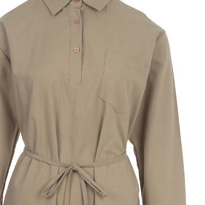simple design ribbon shirt dress